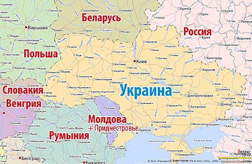 карта приднестровье украина россия