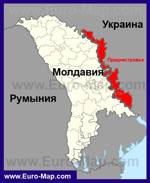 карта молдавии  приднестровье украина